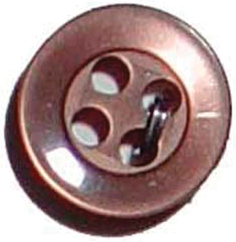 Slimline Buttons Series 1-Brown 4-Hole 3/8 6/Card Multi-Colored
