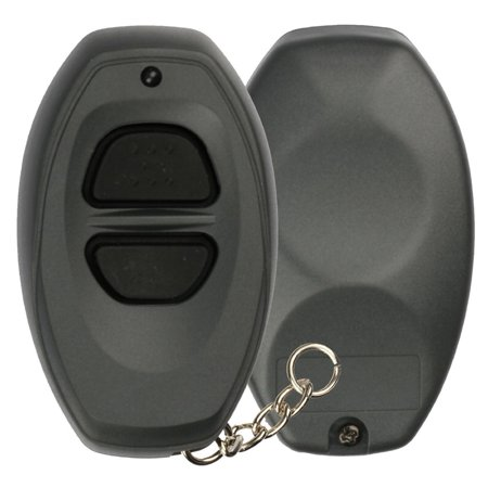 KeylessOption Keyless Entry Remote Control GREY Car Key Fob Shell Case Cover Button Pad for Toyota Dealer Installed Alarm System BAB237131-022 ()