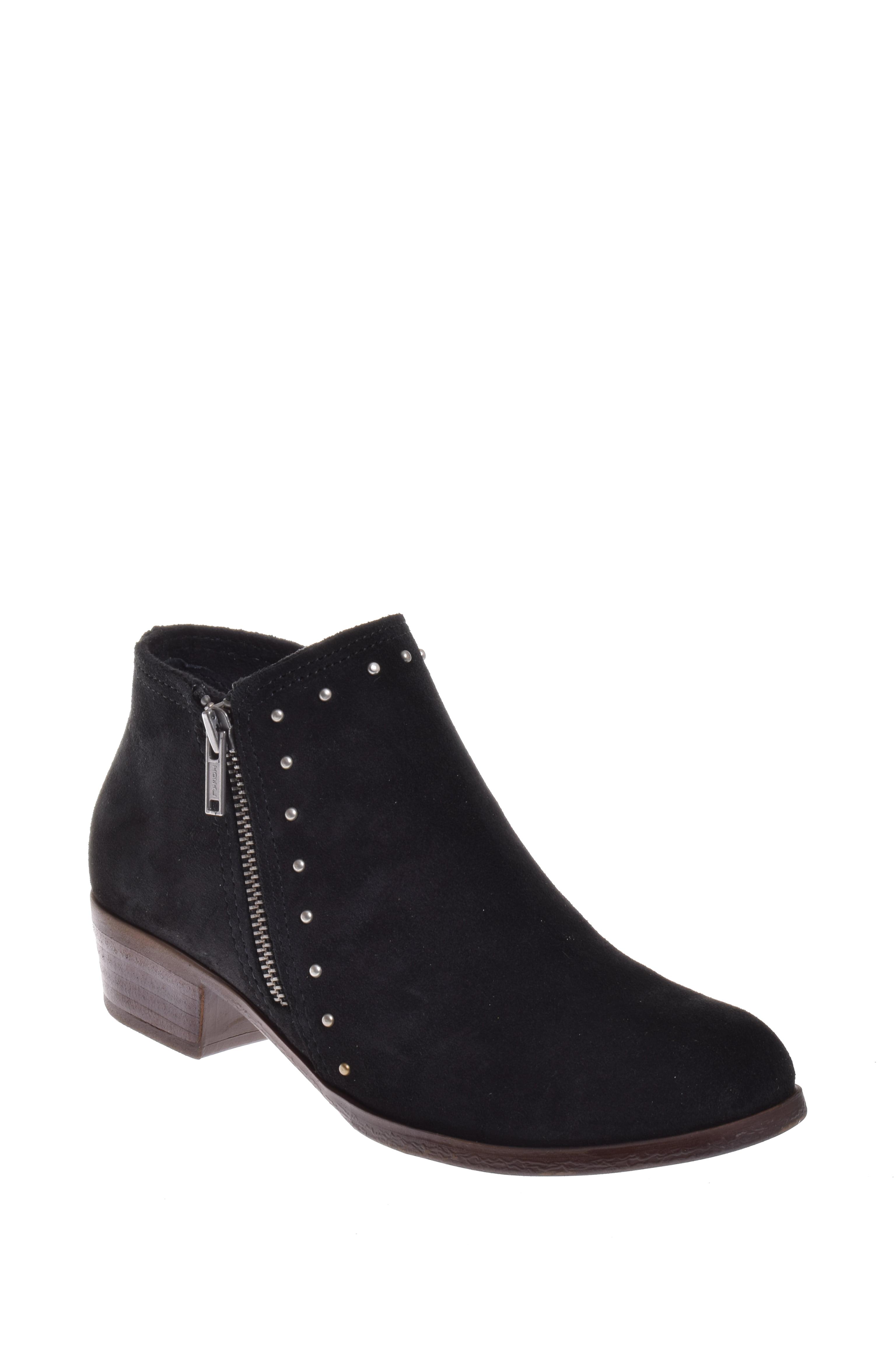 Minnetonka Brie Low Heel Bootie Black by