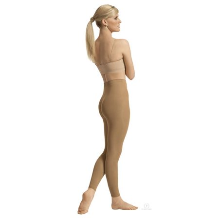 212-C-L-XL Intimates Adult Non-Run Footless Tights, Caramel - Large & Extra Large Extra Large Caramel