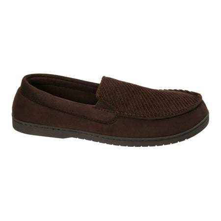 DF by Dearfoams Men's Corduroy Moc Slipper - Polar Slippers