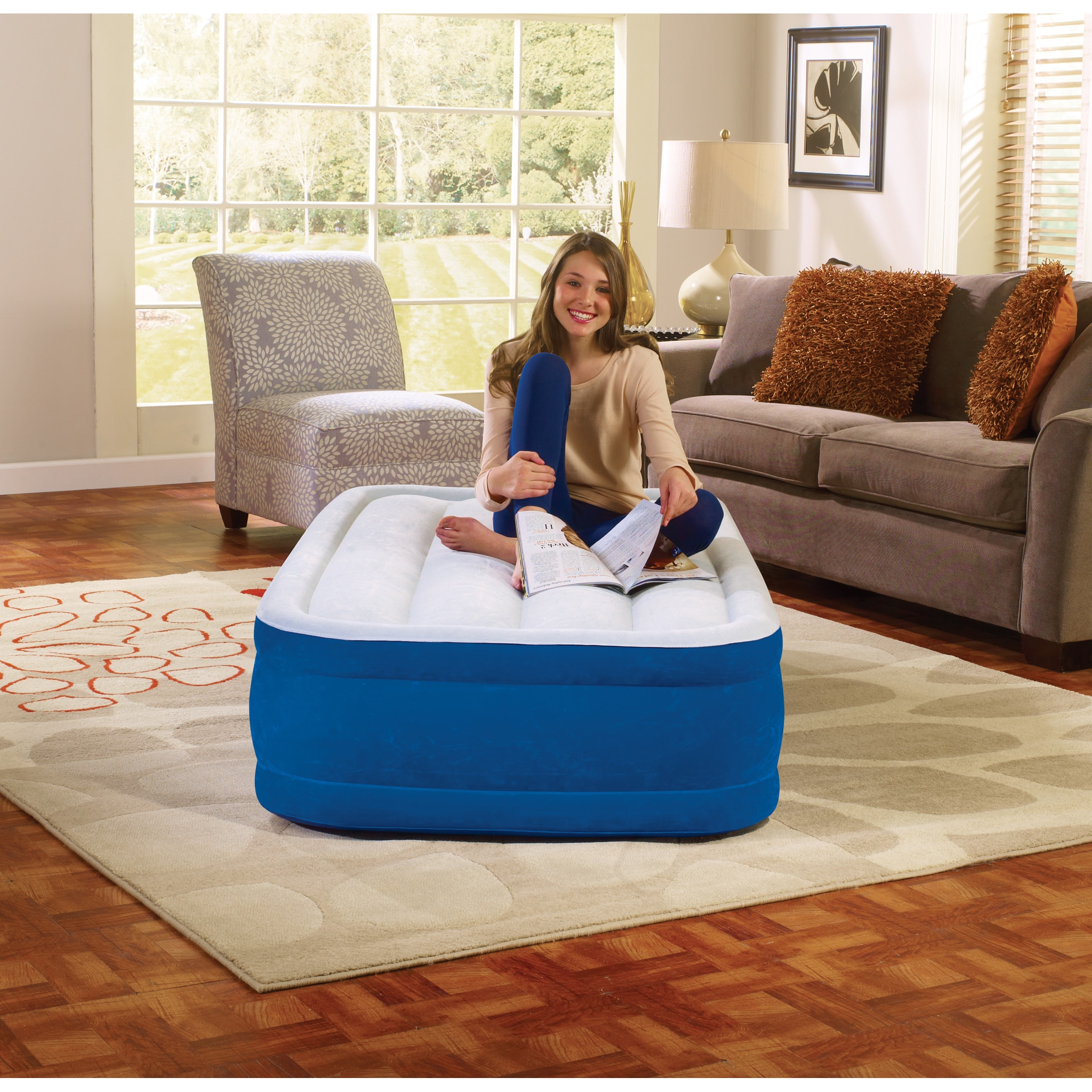 Simmons Beautyrest Plushaire 15-inch Twin-size Airbed by Overstock