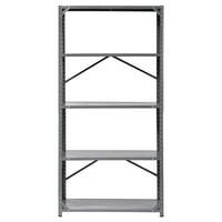 "Muscle Rack 36""W x 18""D x 72""H 5-Shelf Steel Commercial Shelving Unit, 1200 lb Capacity, Gray"