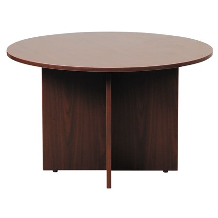 Boss Office Products Mahogany Inch Round Conference Table - 42 inch round office table