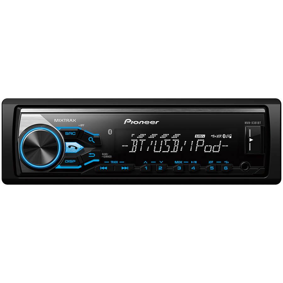 Pioneer MVH-X381BT AM FM USB iPod Digital Media Receiver with Built-In Bluetooth by Pioneer