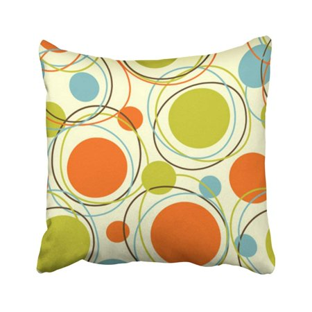 - ARTJIA Colorful 1950S Retro Abstract Pattern Mid Century 1960S Modern 1970S Vintage Pop Pillowcase Throw Pillow Cover Case 16x16 inches