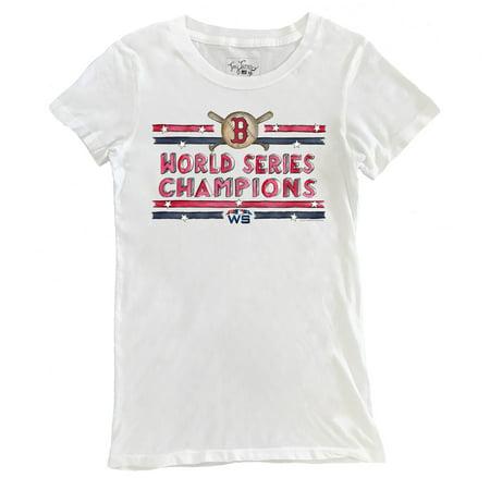 f0f51a28b741e Boston Red Sox Tiny Turnip Women's 2018 World Series Champions Stars &  Stripes T-Shirt - White - Walmart.com
