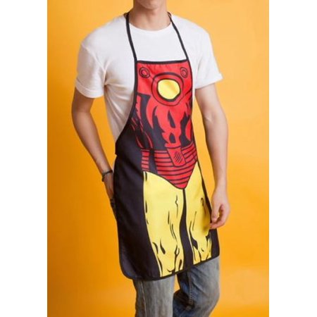Creative Marvel Iron Man Apron Superhero Anime Comics Cooking Funny