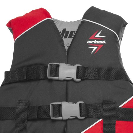 Airhead Slash Childrens 30-50 Lb Closed Sided Boating Life Vest Jacket, Red - image 4 of 5