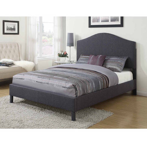 acme furniture clyde upholstered king bed gray