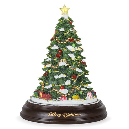 Best Choice Products Pre-Lit Tabletop Rotating Musical Christmas Tree  Festive Holiday Decoration w/ - Best Choice Products Pre-Lit Tabletop Rotating Musical Christmas