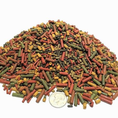 Aquatic Foods 7-type Sinking Sticks, Micro Sticks & Bits Blend for Crayfish, Shrimp - 1/8-lb…GB-20 TetraMin, New Life Spectrum, Hikari, Ocean Nutrition Bonus Bag Included.