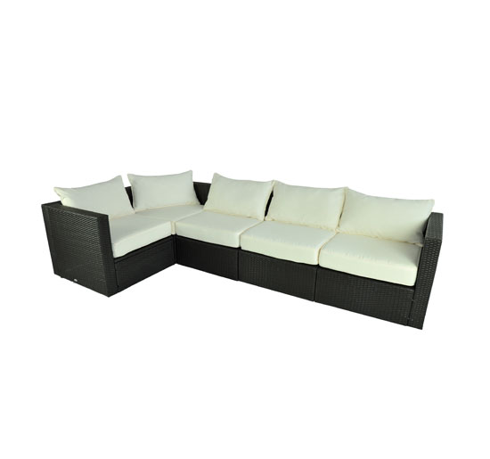 Outsunny 5 Piece Outdoor Rattan Wicker Garden Patio Sofa Sectional Furniture Set by Wicker Furniture