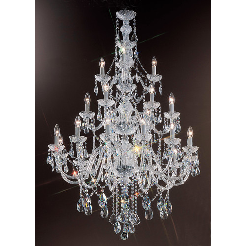 Classic Lighting Monticello 21-Light Crystal Chandelier