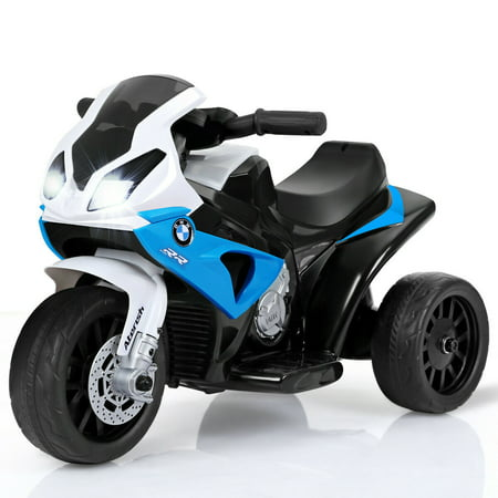 Gymax Kids Ride On Motorcycle BMW Licensed 6V Electric 3 Wheels Bicycle w/ Music&Light Bmw 3 Series Convertible Price