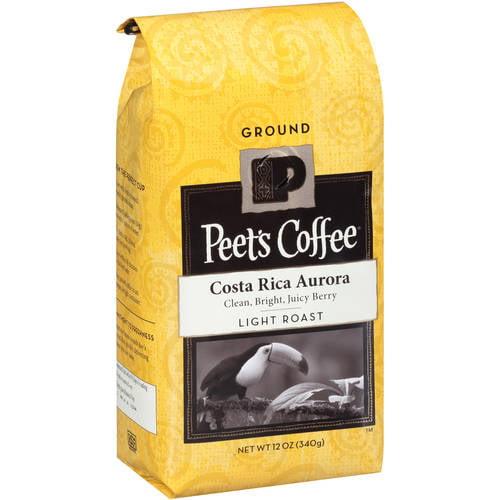 Peet's Coffee Costa Rica Aurora Light Roast Ground Coffee, 12 oz