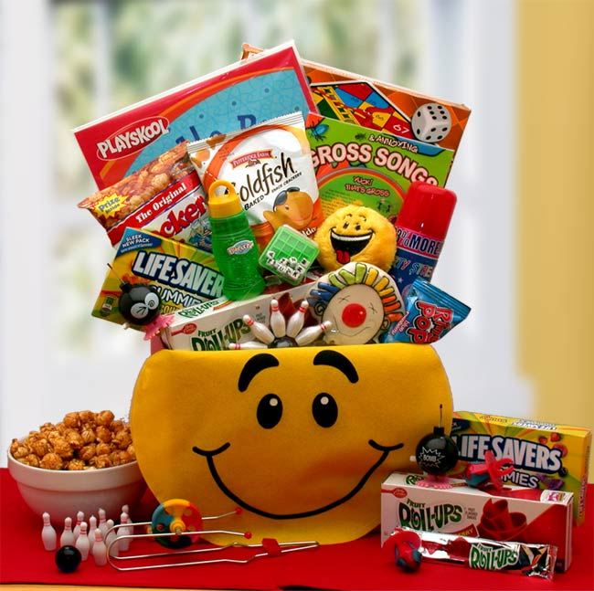 Gift Basket Drop Shipping A Smile Today Kids Smiley Face Activity Gift Box
