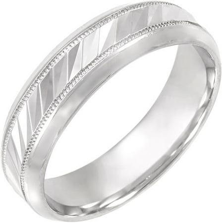 Men 39 S Wave Pattern Sterling Silver Ring 6mm