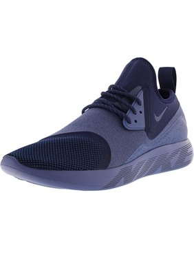Nike Men's Lunarcharge Essential Binary Blue / Moon Volt Ankle-High Fabric Running Shoe - 10M