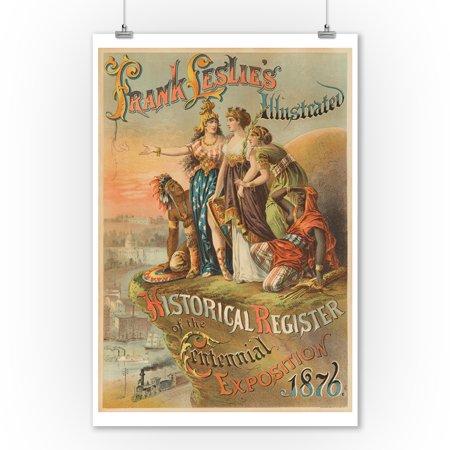 - Frank Leslie's Illustrated Historical register of the Centennial ExpositionPoster USA c. 1876 (9x12 Art Print, Wall Decor Travel Poster)