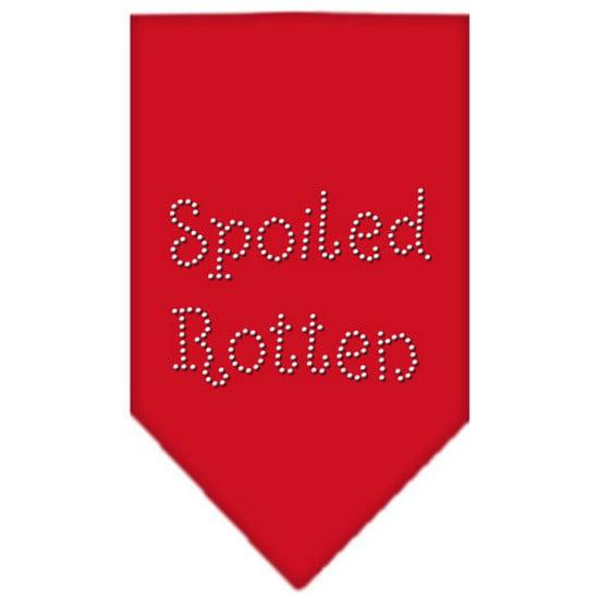 Spoiled Rotten Rhinestone Bandana Red Small