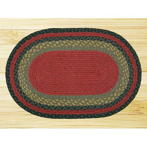 Earth Rugs Burgundy/Olive/Charcoal Braided Area Rug