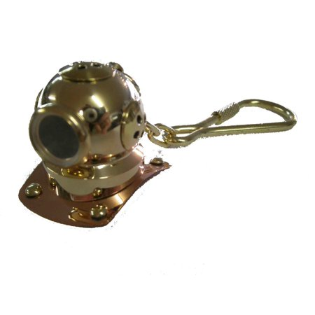 Scuba Diving Diver KeyChain Dive Helmet Brass US Navy Maritime GP5000