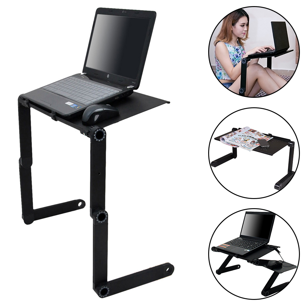 Adjustable Portable Laptop Table Desk Stand Lap Sofa Bed Tray Computer Notebook
