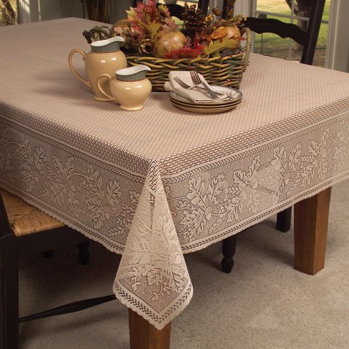 Heritage Lace Oak Leaf Rectangle Tablecloth