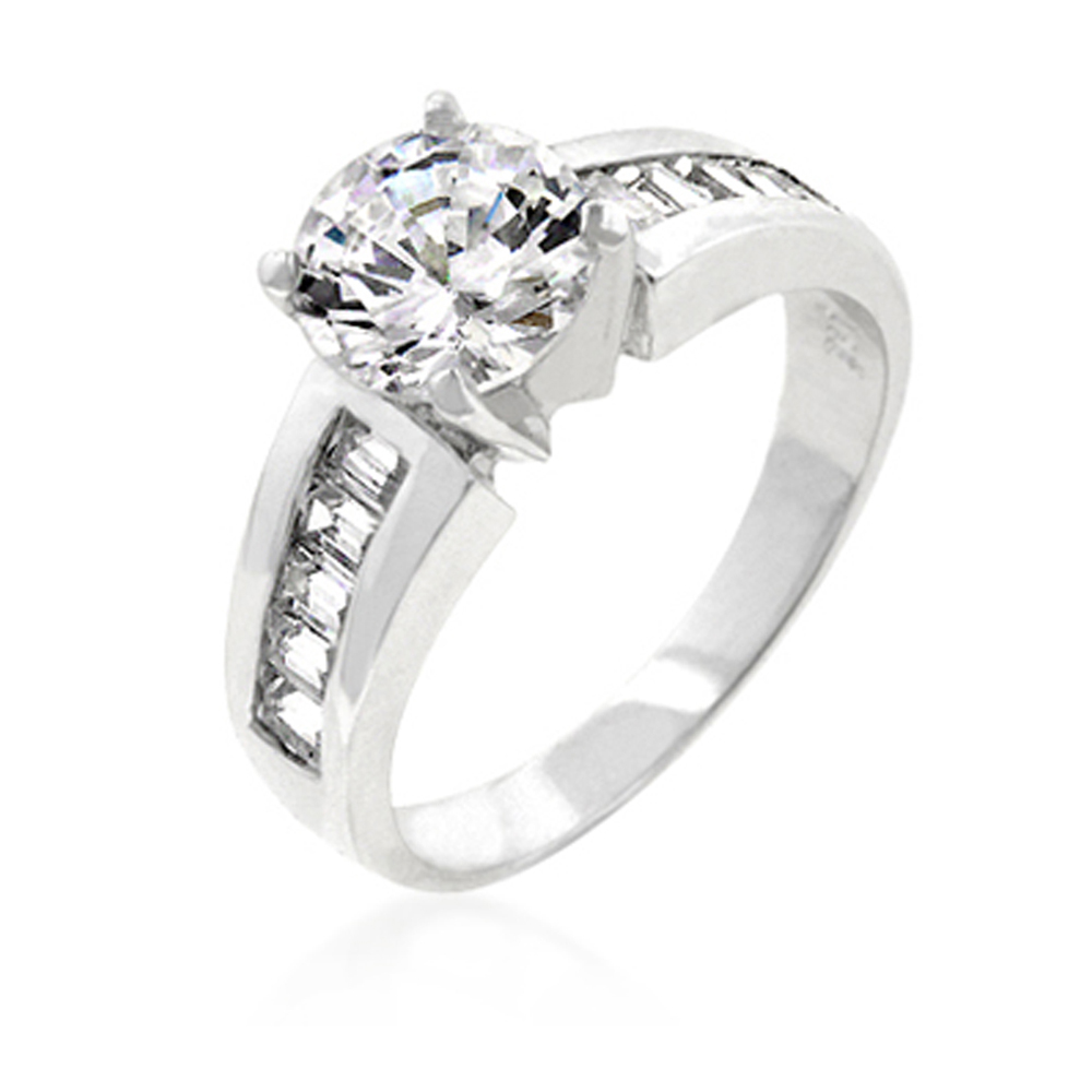 J.Goodin Antoinette Engagement Silver Ring Size 10