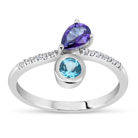 Violac-Purple-Topaz-Ice-Blue-Topaz-and-White-Topaz-Swarovski-Genuine-Gemstone-Sterling-Silver-Rhodium-Plated-Chanel-Setting-Ring