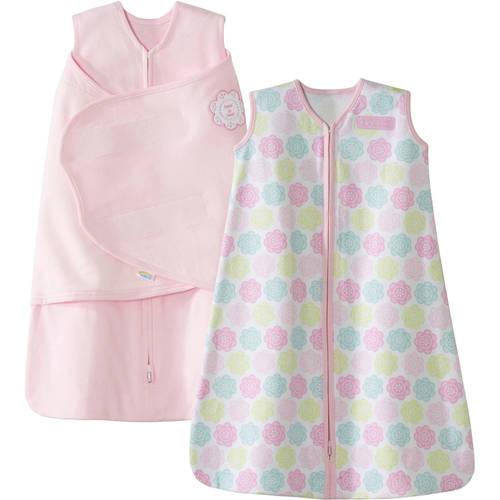 HALO SleepSack Swaddle and Wearable Blanket 2-Piece Gift Set, Cotton, Blue, Newborn
