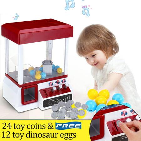 Carnival Claw Game Machine Mini Arcade Grabber Crane Blue + Toys