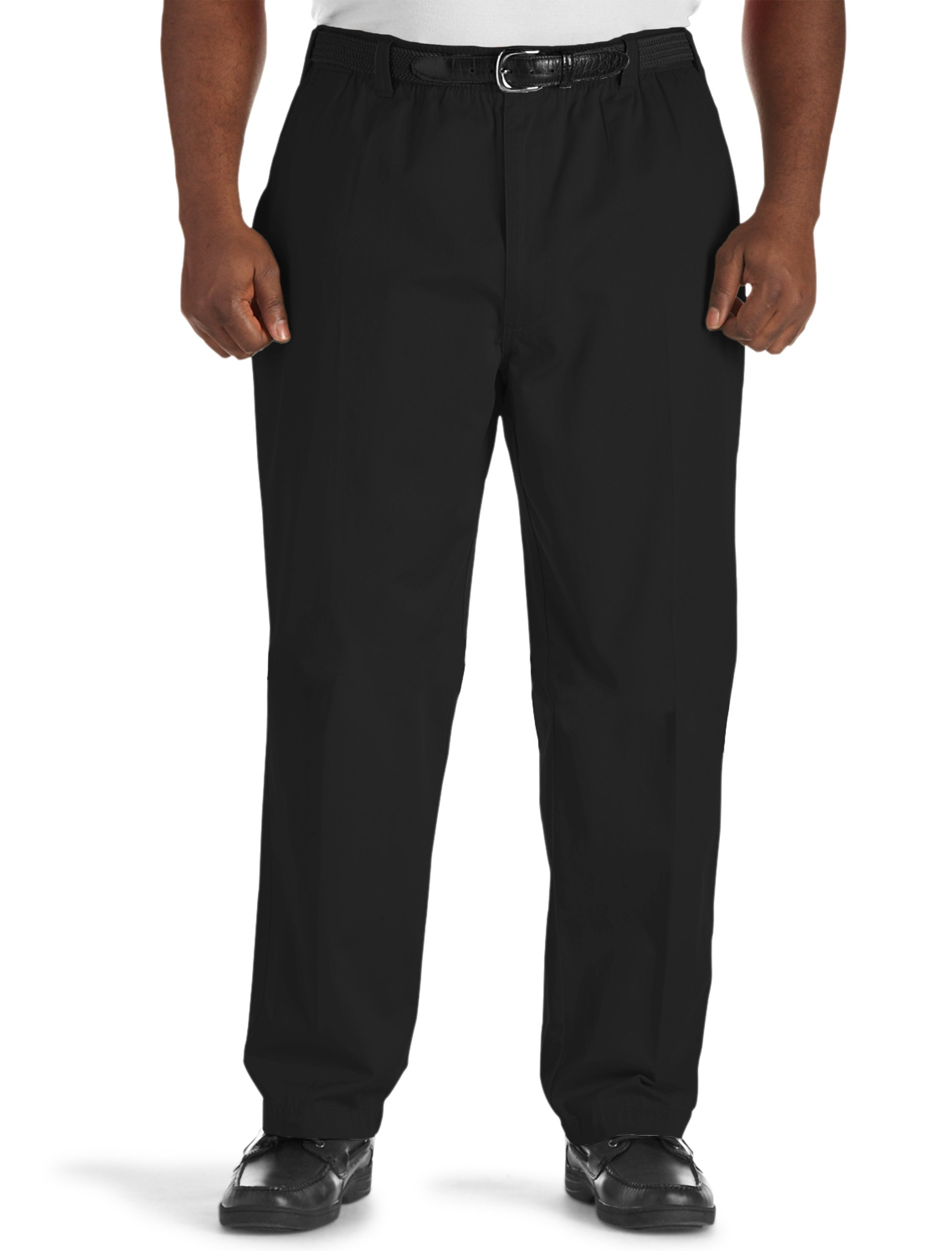 Men's Big & Tall Harbor Bay Elastic-Waist Pants – Unhemmed