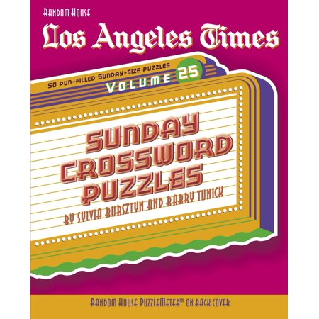 Los Angeles Times Sunday Crossword Puzzles, Volume 25 - Halloween Activities For Toddlers Los Angeles