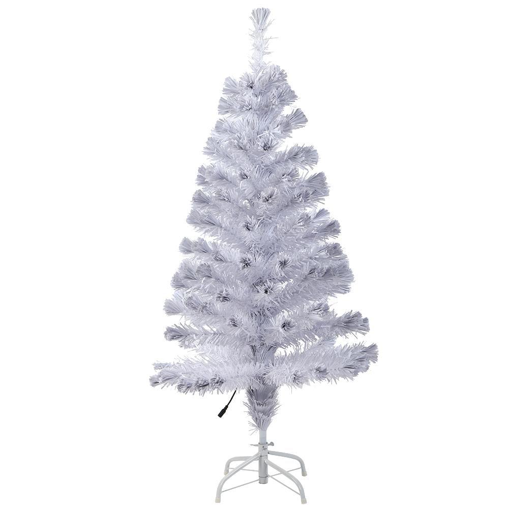 Tebru 120cm White Fiber Optic Artificial Christmas Tree ...