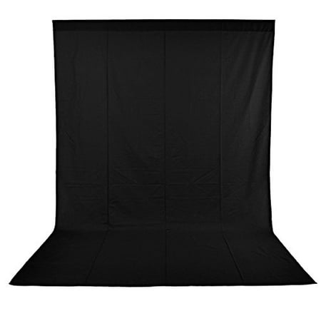 Neewer 10 x 20FT / 3 x 6M PRO Photo Studio 100% Pure Muslin Collapsible Backdrop Background for Photography,Video and Televison (Background ONLY) - BLACK (Halloween Muslin Backdrops)