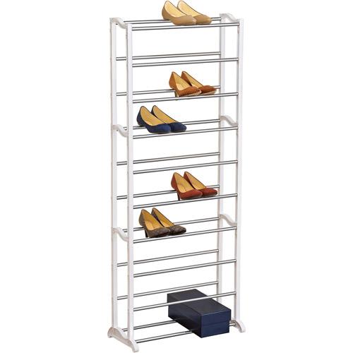 Lynk 30-Pair Shoe Rack, White