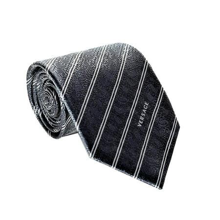 Versace Men's Striped Paisley Woven Silk (Versace Wool / Silk Coat)