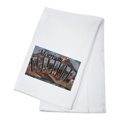 Morrison, Colorado - Large Letter Scenes (100% Cotton Kitchen