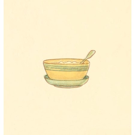 Little Ann & other Poems 1890 Bowl & spoon Stretched Canvas - Kate Greenaway (18 x 24) ()