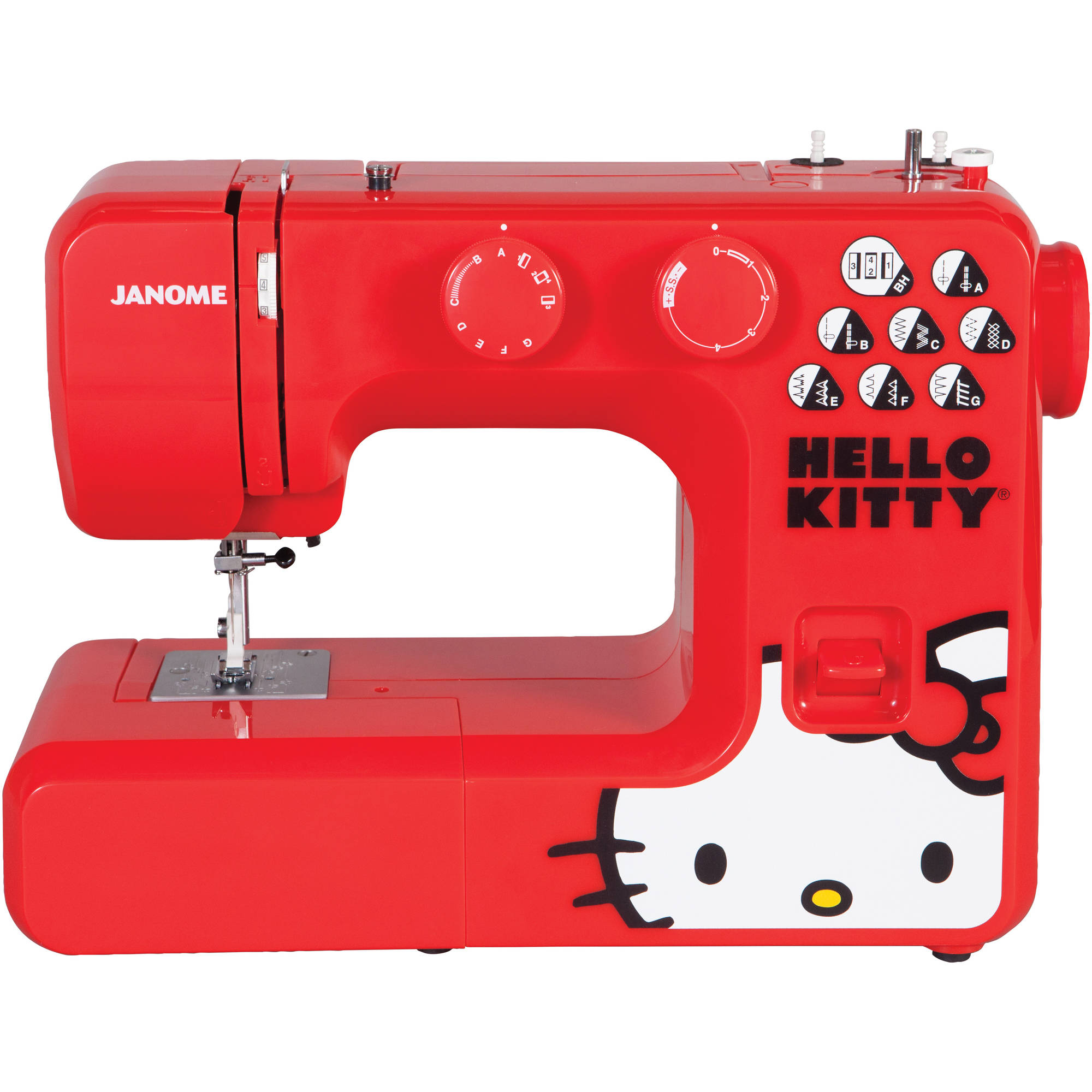 Janome 13512 15-Stitch Hello Kitty Easy-to-Use Sewing Machine