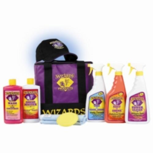 Detailing Kit, With Cleaner, Sealant, Protectant, Cloth, Pad, In Soft Sided Cooler, Free Wizards Hat
