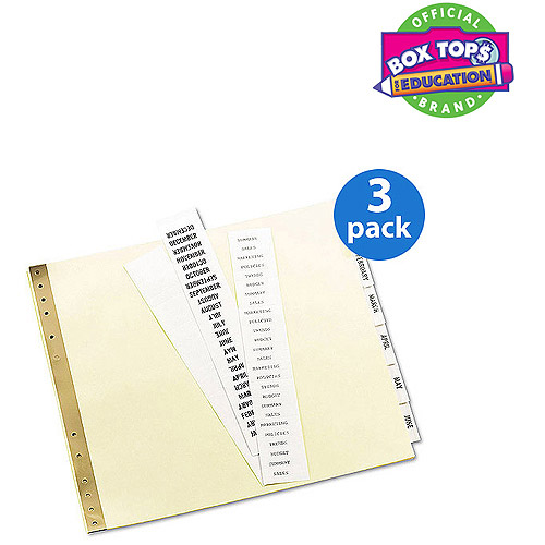 (3 Pack) Avery Insertable Clear Tab Dividers for Data Binders, 6-Tab, 11 x 9 1/2
