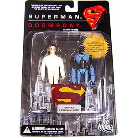 High-quality DC Direct: Superman/Doomsday Lex Luthor and Superman Robot Action Figure 2-Pack, Fast shipping ()