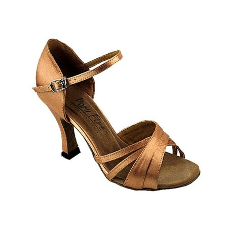 Very Fine Ballroom Dance Shoes Ladies 6030 Brown 2.5-inch Heel, 8