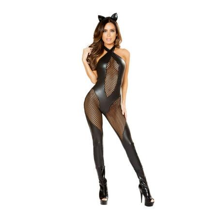 Romacostumes 3 Piece Naughty Kitty Black Costume - Medium