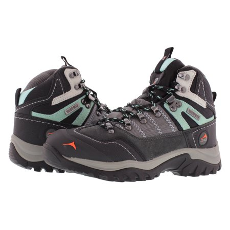 Pacific Mountain Ascend Women's Waterproof Hiking Backpacking Mid-Cut Grey/Black/Turquoise Boots Size