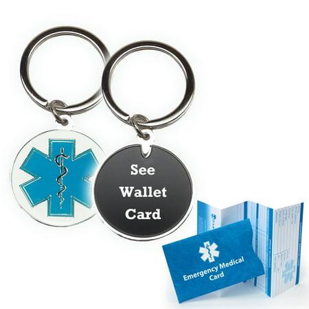 See Wallet Card Medical Alert Id Keychain Cloisonne Walmart Com