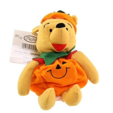 Disney Bean Bag Plush - PUMPKIN POOH (Winnie the Pooh) (9 inch) - Plush Pumpkins